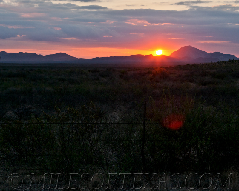Big Bend Red Sun Sunrise